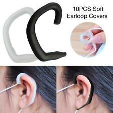 10Pcs Face Mouth Face Silicone Ear Protection Hook Earbud Gel Soft Earloop Cover
