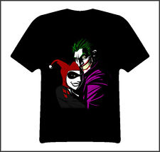 Joker harley quinn comic book t shirt Black