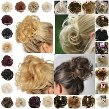 Synthetic Hair scrunchie All Colours All Sizes Curly Wavy Straight Spiky Neat