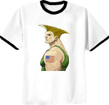 Guile Usa Street Fighter 4 VideoGame T Shirt Black Ring