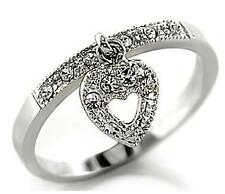 NEW SWAROVSKI CRYSTAL HEART CHARM PROMISE RING 8 9 10