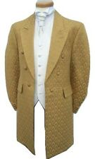 MENS GOLD FROCKCOAT WEDDING DRESS SUIT FROCK COAT COATS