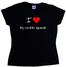 I Love Heart My Cocker Spaniel Ladies T-Shirt