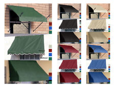 Fabric DIY Window Awnings - Three Sizes & Five Colors