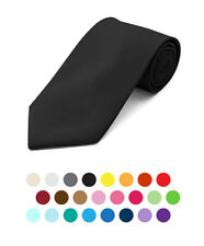 Men's Solid Color POLYESTER TIE in 20 colors (PS1301)