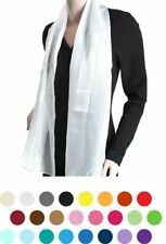Solid POLYESTER SATIN SCARF in 20 colors (SPS1301)