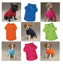 POLO DOG SHIRT SELECTIONS - Preppy Button Down Cotton Shirts for Dogs 5 Colors !