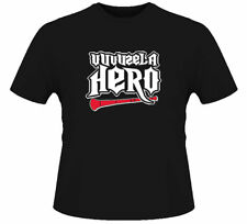Vuvuzela Funny Guitar Hero Soccer Football Black TShirt