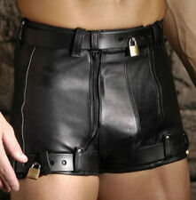 Men's Leather Chastity Shorts by Strict Leather