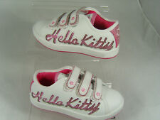 HELLO KITTY INFANTS TRAINERS (SPARKLE) WHITE/PINK