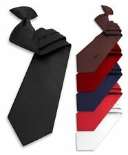 Solid Color Poly Clip-On Tie (PSC2401)