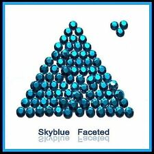 WholeSALE Sky Blue Hotfix Rhinestuds faceted 2, 3, 4mm