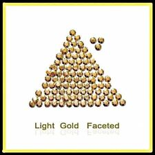 LT Gold  Hotfix Iron on Rhinestuds faceted.  2, 3, 4mm