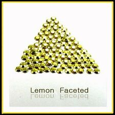 WholeSale Lemon Hotfix Iron Rhinestuds faceted2, 3, 4mm