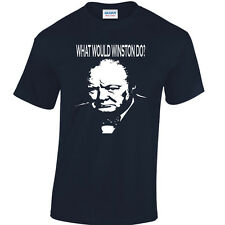 Winston Churchill Homage T-Shirt  Tories Political Icon