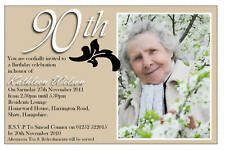 Personalised 50th 60th 70th 80th 90th Birthday Party PHOTO Invitations N41