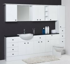 Fitted Bathroom Furniture units white gloss cabinets