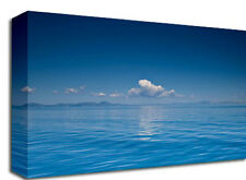Blue Sea Cloud Landscapes Canvas Art Print picture