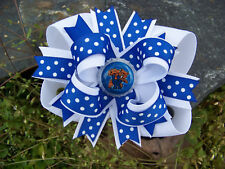 KENTUCKY WILDCATS POLKA DOT BOTTLECAP HAIRBOW