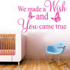 wE MADE A WISH ... wall art Sticker quote LARGE decor