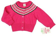 NWT GIRLS CARTERS PINK SWEATER CARDIGAN SIZE 18M,3,5