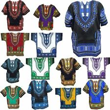 Mens Dashiki African Shirt Hippie Blouse Bohemian Top Vintage Clothing Free Size