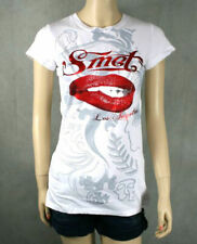 SMET Christian Audigier Platinum LIPS T-shirt white NEW