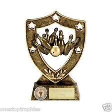 Ten Pin Bowling Trophy in 2 sizes free engraving up to 30 letters N01056
