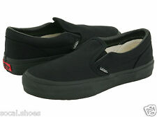 VANS Classic Slip On All Black Infants Little Kids Toddler Shoes New Vans Sale