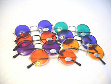 """""""JOHN LENNON SUNGLASSES """" CLASSIC ROUND GLASSES IN A RAY OF COLORS W/ FREE CASE"""