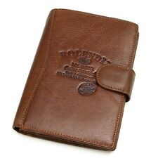 Genuine Leather Passport Wallet Case Holder Cover for Travel Purse Vintage