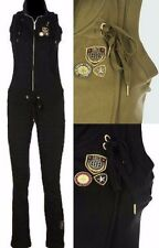 ECKO RED Collared Military Jumpsuit * 2 COLORS * Army Green Black Zip Up Jumper