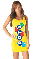 Juniors Yellow Candy Chewy Dots Sexy Halloween Costume Tank Tunic Dress Dresses