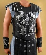 Russell Crowe's Gladiator Costume The Final Battle Brown Leather Costum Handmade
