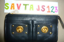 MARC BY MARC JACOBS Totally Turnlock zip clutch - black.