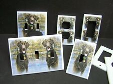 CHOCOLATE LAB HUNTING DOG  LIGHT SWITCH OR OUTLET COVER