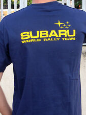subaru wrx sti rally team navy blue t shirt new