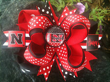 NEBRASKA CORNHUSKERS CHOOSE YOUR OPTIONS BOTTLECAP HAIRBOW