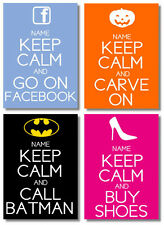 Personalised Keep Calm Posters - Great for Birthday and Christmas for Mum & Dad