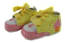 Baby Girl's FIRST SHOES WITH KEEPSAKE BOX - Baby Birthday Christening Gift - NEW