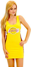 NBA Los Angeles Lakers Laker Girls Cheerleader Costume Tank Dress Sexy outfit