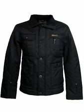 Mens Quilted 'Newark' Hunter Style Military Jacket/ Coat - Black By Dissident