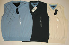 NWT Genuine TOMMY HILFIGER white, blue or gray sweater vest , size XL, L or M