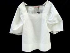 LISA HO WAXY COTTON LACE LADIES DESIGNER TOP WHITE NEW