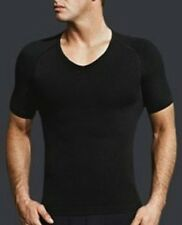 male or men musle v  neck T-shirts slimming body shaper short sleeve underwear