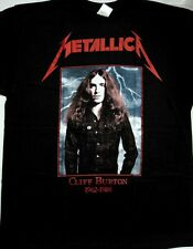 METALLICA CLIFF BURTON 1962-1986 BASS GUITAR SPEED THRASH NEW BLACK T-SHIRT