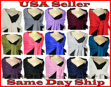New Solid Pashmina Silk Cashmere Shawl Scarf Stole Wrap Christmas Sale