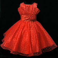 R8811 AS AMUS Red Christmas  Bridesmaid Flower Girls Dress SIZE 2,3,4,5,6,7,8,9T