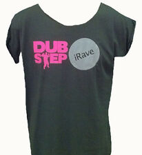 AVIT - iRAVE DUBSTEP - T SHIRT - WOMENS - GREY WITH PINK TEXT