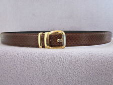 MENS BROWN GENUINE SNAKE SKIN BELT 2 AWSOME SHADES ALL SIZES ARE AVAILABLE